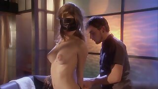 Blindfolded Brunette with Perky Tits Faye Reagan In Lingerie Suck And Rides Cock - erotic hardcore