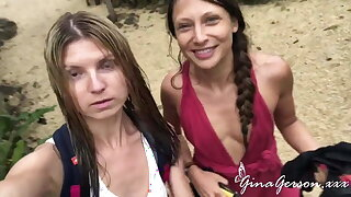 Gina Gerson and Talia Mint enjoy sexy vacation time