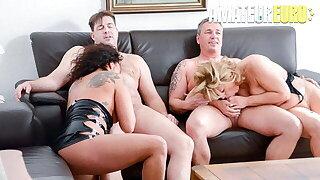 AMATEUR EURO Annette Liselotte & Nicole E. In Hot 4some Fun