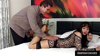 Sensual Shemale Esmeralda Brasil Blows a Guys Cock Then Takes Evenly Up Her Ass