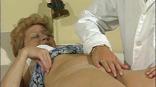 Young weaken bangs granny patient