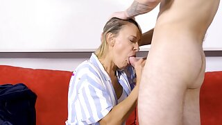 SHAME4K. Blonde mature is turned atop in a beeline she sees her in the altogether